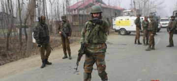 Srinagar: Security personnel after an 18-hour-long gun battle with militants that ended in Mujgund area on the outskirts of Srinagar on Dec 9, 2018. A Pakistani commander of the Lashkar-e-Taiba (LeT) terror outfit and two Kashmiri militants were killed by the Indian forces. The operation stretched for hours as militants kept on changing locations during the gunfight within the cordoned off area. (Photo: IANS)