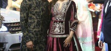 Mumbai: Actor Actor Shahid Kapoor and his wife Mira Rajput at the wedding ceremony of industrialist Mukesh Ambani's daughter Isha Ambani and Anand Piramal at Antilia in Mumbai on Dec 12, 2018. (Photo: IANS)