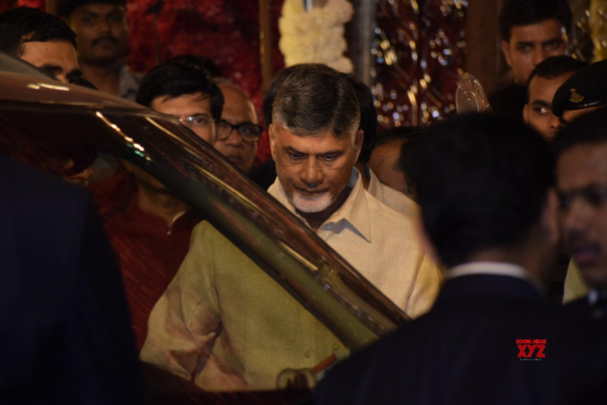Mumbai: Chandrababu Naidu at Isha Ambani & Anand Piramal's wedding #Gallery