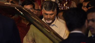 Mumbai: Andhra Pradesh Chief Minister N. Chandrababu Naidu at the wedding ceremony of industrialist Mukesh Ambani's daughter Isha Ambani and Anand Piramal at Antilia in Mumbai on Dec 12, 2018. (Photo: IANS)