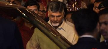 Mumbai: Andhra Pradesh Chief Minister N. Chandrababu Naidu at the wedding ceremony of industrialist Mukesh Ambani's daughter Isha Ambani and Anand Piramal at Antilia in Mumbai on Dec 12, 2018. (Photo: IANS)