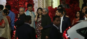 Mumbai: Director Sanjay Leela Bhansali at the wedding ceremony of industrialist Mukesh Ambani's daughter Isha Ambani and Anand Piramal at Antilia in Mumbai on Dec 12, 2018. (Photo: IANS)