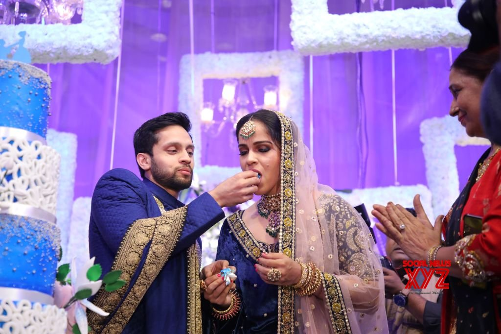 Saina Nehwal And Parupalli Kashyap Wedding Reception At HICC Novotel Gallery Set 1