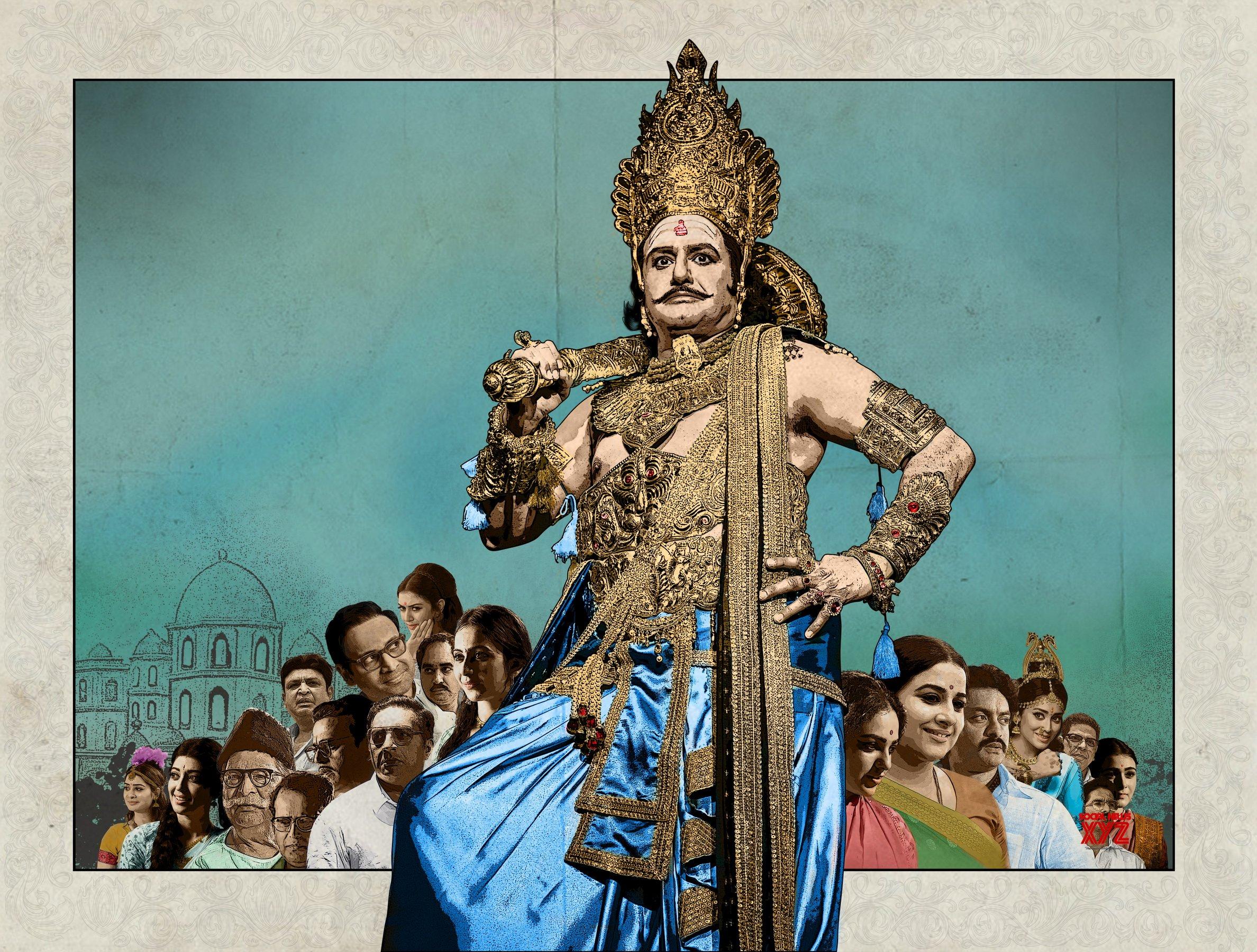 NBK As Ravana Brahma And Cast HD Still From NTR Biopic