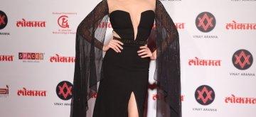 Mumbai: Actress Amruta Khanvilkar at Lokmat Most Stylish Awards 2018 in Mumbai, on Dec 19, 2018. (Photo: IANS)