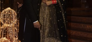 Mumbai: Actors Ranveer Singh and Deepika Padukone arrive at Priyanka Chopra and Nick Jonas third wedding reception at Taj Lands' End in Mumbai. on Dec 20, 2018. (Photo: IANS)