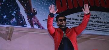 Mumbai: Actor Ranveer Singh at Gaiety Galaxy in Mumbai's Bandra on Dec 28, 2018. (Photo: IANS)