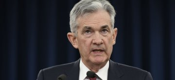 WASHINGTON, Dec. 19, 2018 (Xinhua) -- U.S. Federal Reserve Chairman Jerome Powell speaks during a press conference in Washington D.C., the United States, on Dec. 19, 2018. The U.S. Federal Reserve on Wednesday raised short-term interest rates by a quarter of a percentage point, but signaled a slower pace of rate hikes next year as the U.S. economy is expected to cool down. (Xinhua/Liu Jie/IANS)