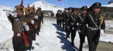 Bumla: Indian and Chinese soldiers jointly celebrate New Year in Bumla along the Indo-China border in Arunachal Pradesh's Tawang district on Jan 1, 2019. (Photo: IANS)