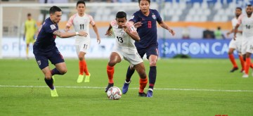 Abu Dhabi: Players in action during an AFC Asian Cup match between Thailand and India at Al Nahyan Stadium in Abu Dhabi, United Arab Emirates on Jan 6, 2019. (Photo: IANS)