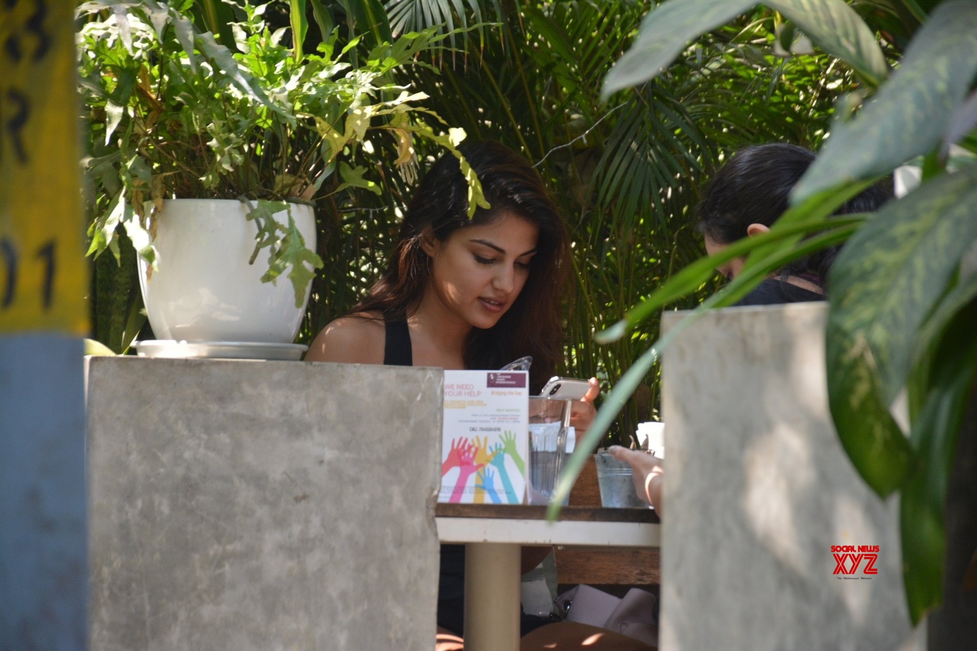 Mumbai: Rhea Chakraborty at a Bandra restaurant #Gallery