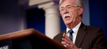WASHINGTON, Nov. 27, 2018 (Xinhua) -- U.S. National Security Advisor John Bolton speaks at a press briefing at the White House in Washington D.C., the United States, on Nov. 27, 2018. John Bolton said on Tuesday that U.S. President Donald Trump and Saudi Crown Prince Mohammed bin Salman are not expected to hold a formal bilateral meeting during the Group of 20 (G20) summit in Argentina. (Xinhua/Ting Shen/IANS)