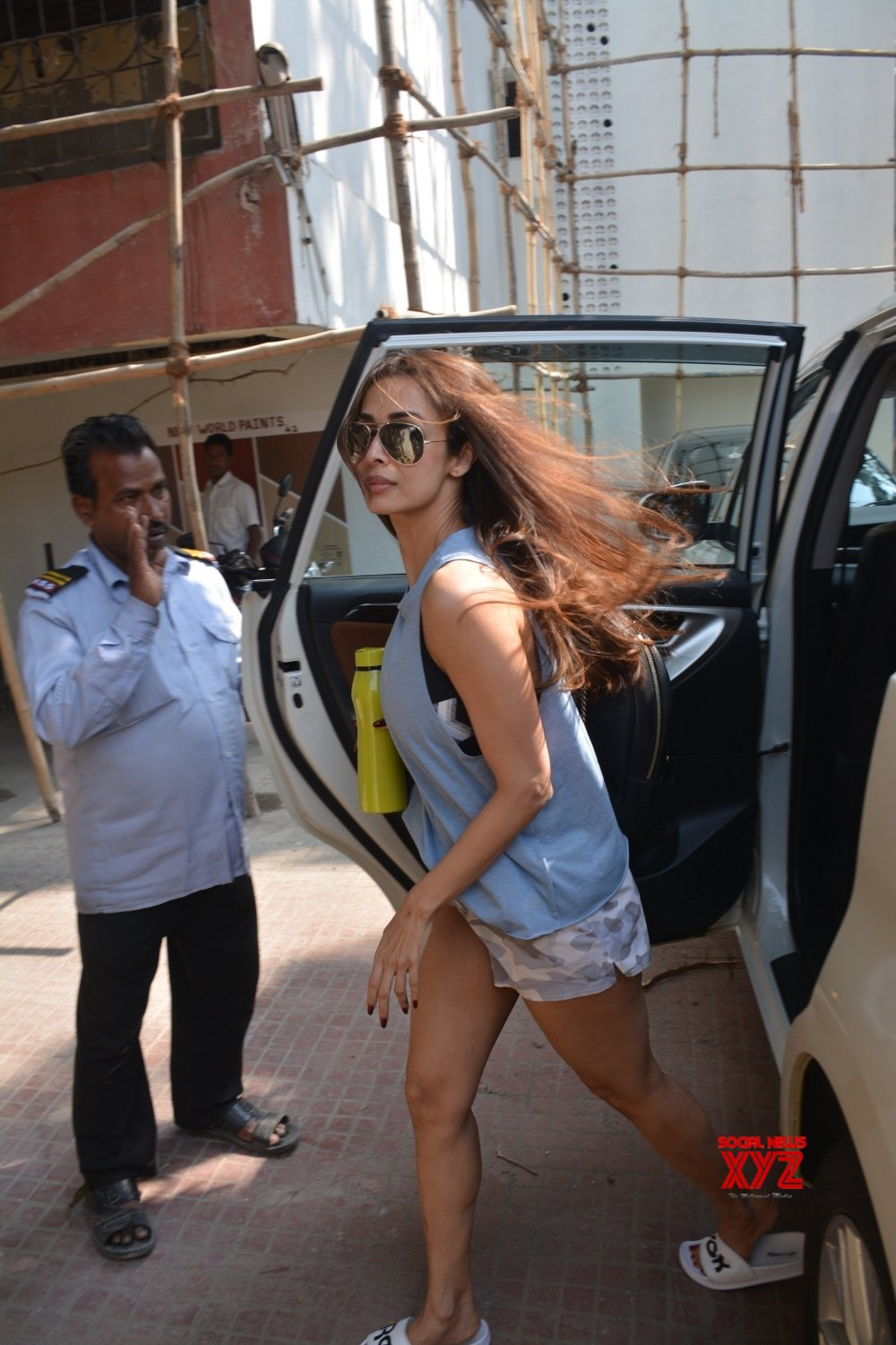 Mumbai: Kanika, Malaika seen outside a gym #Gallery