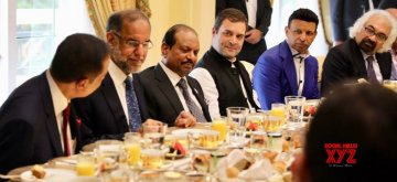 Dubai: Congress President Rahul Gandhi at a business breakfast hosted by an Indian entrepreneur Sunny Varkey, in Dubai, UAE, on Jan 11, 2019. (Photo: IANS/Congress)
