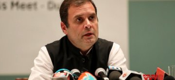 Dubai: Congress President Rahul Gandhi talks to press in Dubai, on Jan 12, 2019. (Photo: IANS/AICC)