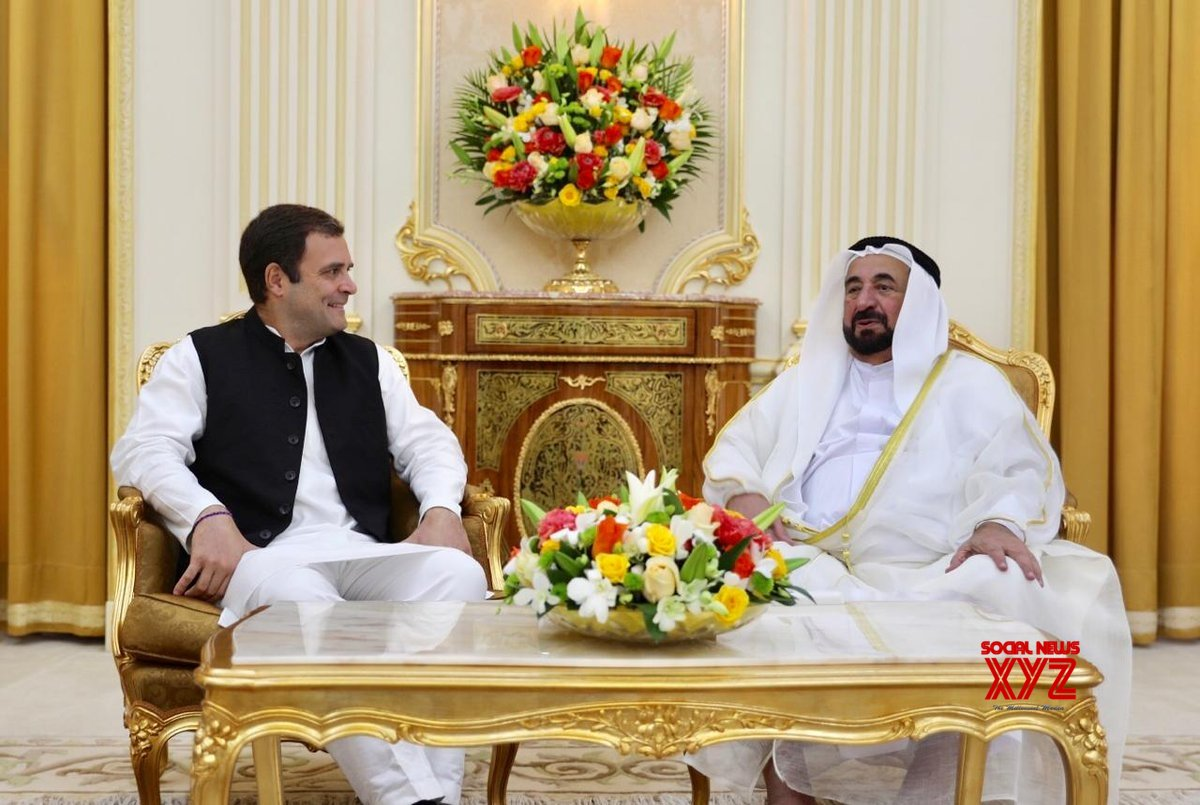 Dubai: Rahul Gandhi meets Sharjah Ruler #Gallery