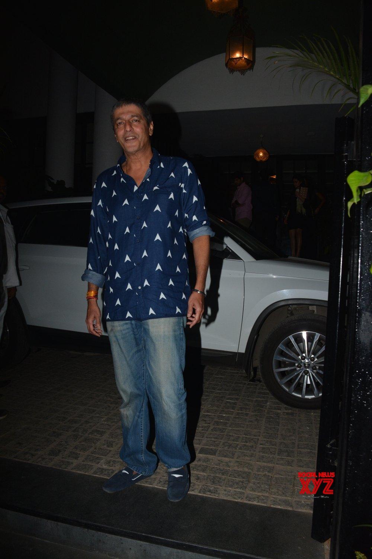 Mumbai: Chunky Pandey, Bhavana Pandey, Ananya Panday seen at Juhu #Gallery