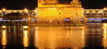 Amritsar: An illuminated Golden Temple on the eve of Guru Gobind Singh Jayanti in Amritsar, on Jan 12, 2019. (Photo: IANS)