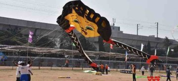 Hyderabad: International Kite Festival 2019 underway in Hyderabad on Jan 13, 2019. (Photo: IANS)
