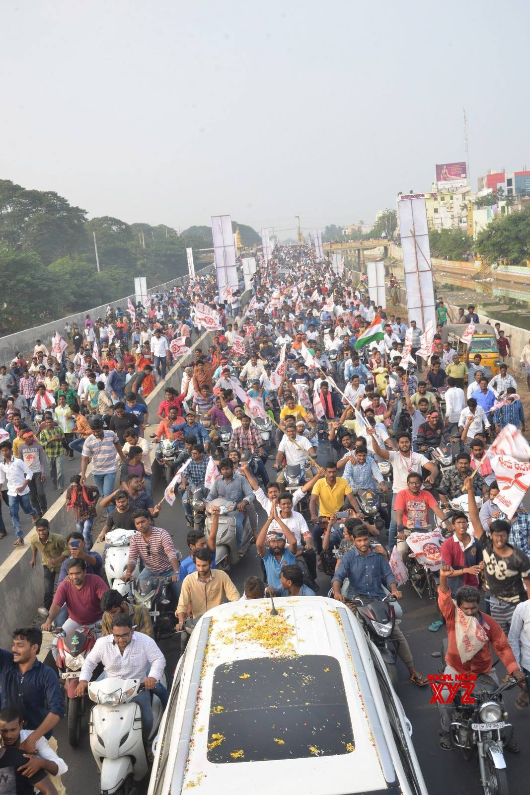 JanaSena Chief Pawan Kalyan Rally In Tenali Gallery Set 2
