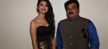 "Mumbai: Actress Priya Prakash Warrier and directer Prasanth Mambully at the trailer launch of their upcoming film ""Sridevi Bungalow"" in Mumbai on Jan 13, 2019. (Photo: IANS)"