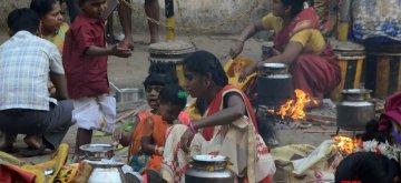 Mumbai: Pongal celebrations underway at Dharavi in Mumbai on Jan 15, 2019. (Photo: Sandeep Mahankal/IANS)