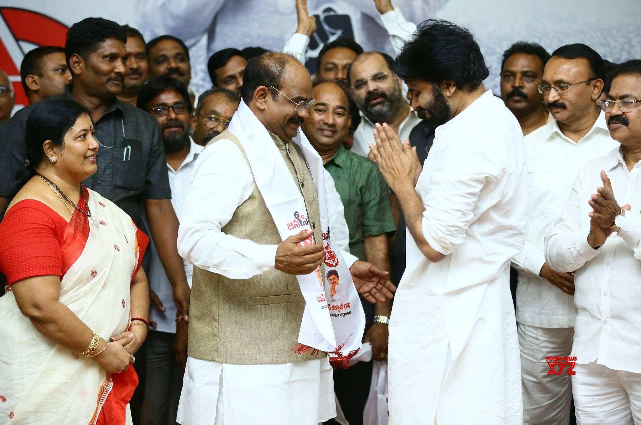 Janasena Chief Pawan Kalyan Welcomes BJP MLA Dr. Akula Satyanarayana Into Party - Gallery