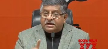 New Delhi: Union Minister and BJP leader Ravi Shankar Prasad addresses a press conference in New Delhi, on Jan 22, 2019. (Photo: IANS)