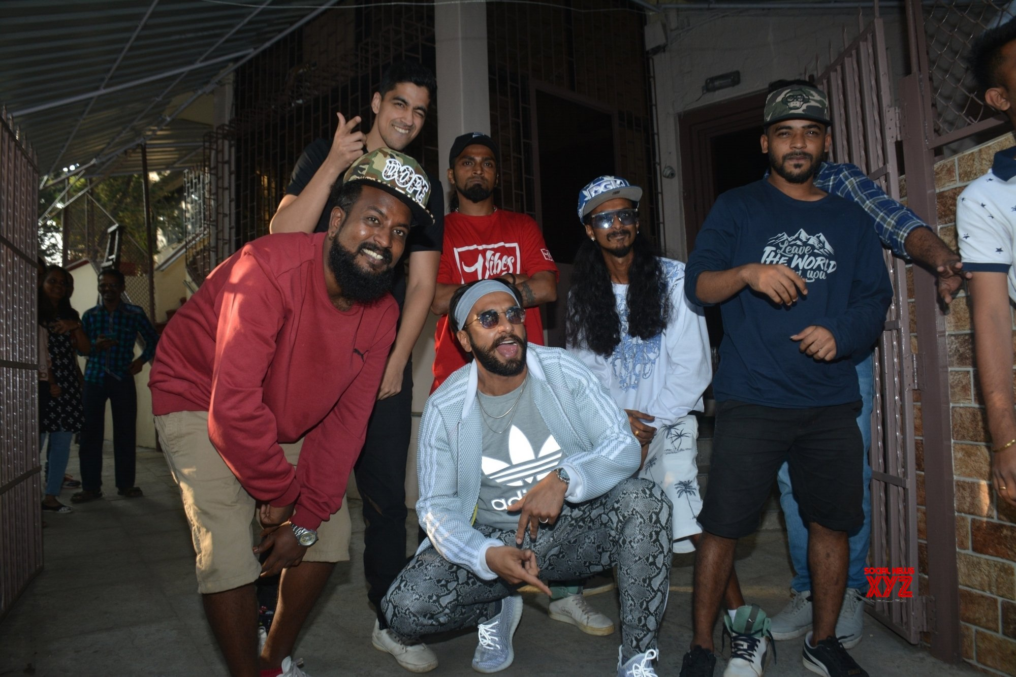 Mumbai: Ranveer Singh seen with rappers at a dubbing studio #Gallery