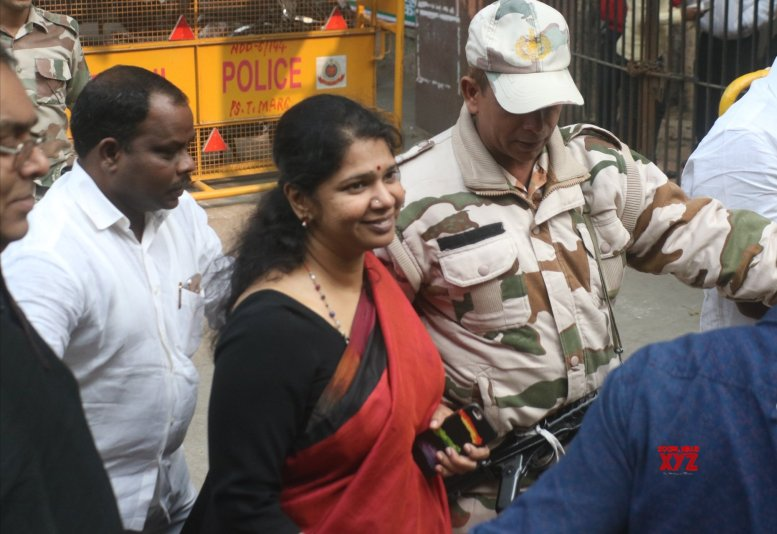 Two days before poll, IT searches Kanimozhi's house