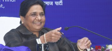 "Lucknow: BSP President Mayawati addresses at the release of her book ""A Travelogue of My Struggle-ridden Life and BSP Movement"" in Lucknow, on Jan 15, 2019. (Photo: IANS)"