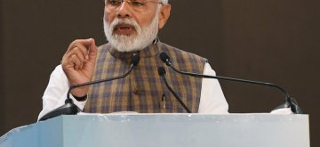 Greater Noida: Prime Minister Narendra Modi addresses at PETROTECH-2019 - the 13th International Oil and Gas Conference and Exhibition at Greater Noida in Uttar Pradesh on Feb 11, 2019. (Photo: IANS/PIB)