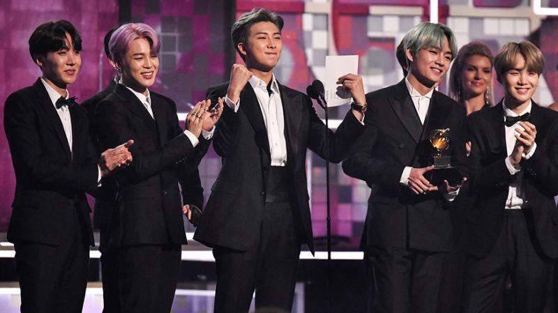 BTS first K-pop group to present at Grammys