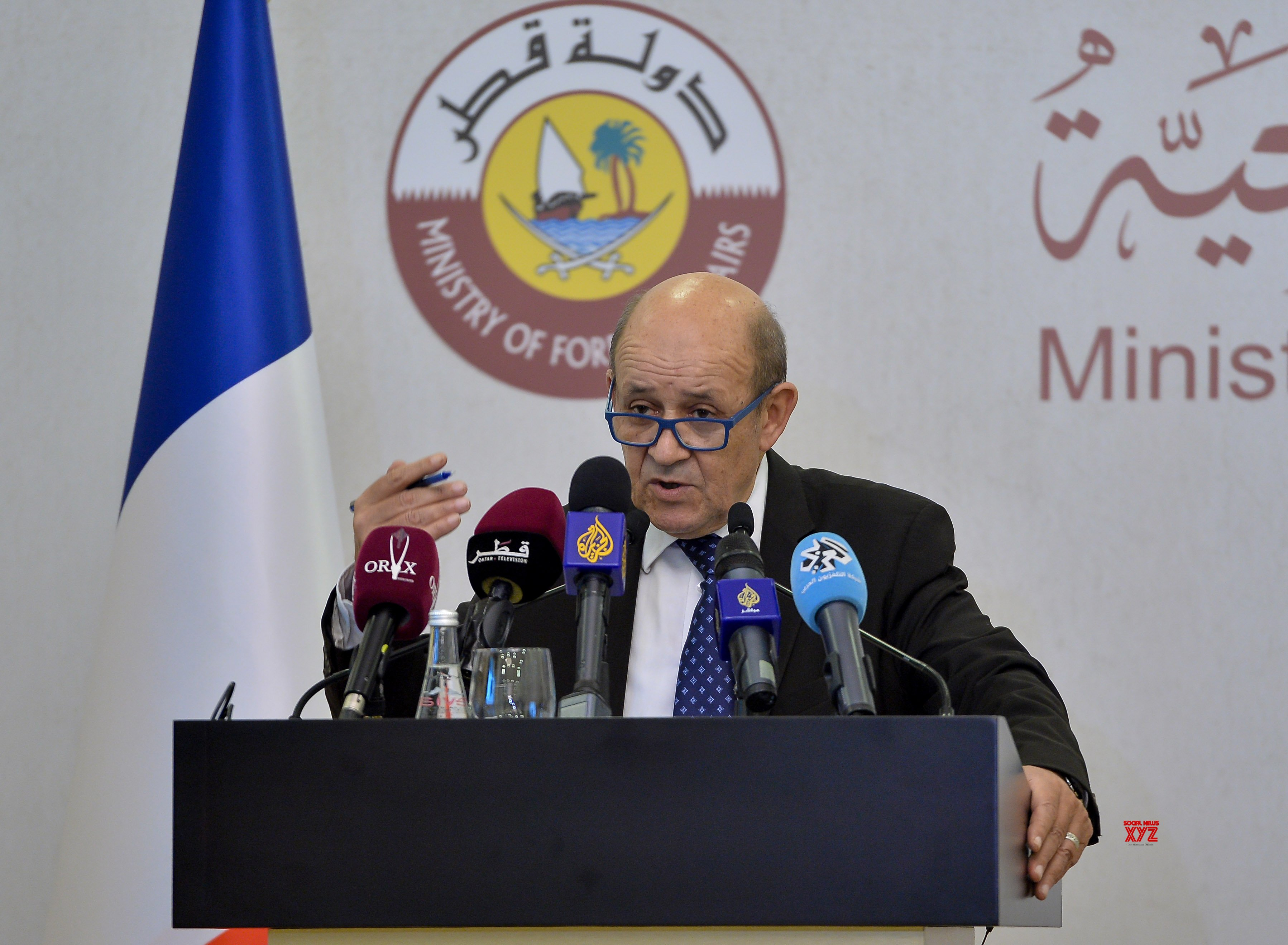 QATAR - DOHA - FM - FRANCE - FM - PRESS CONFERENCE #Gallery