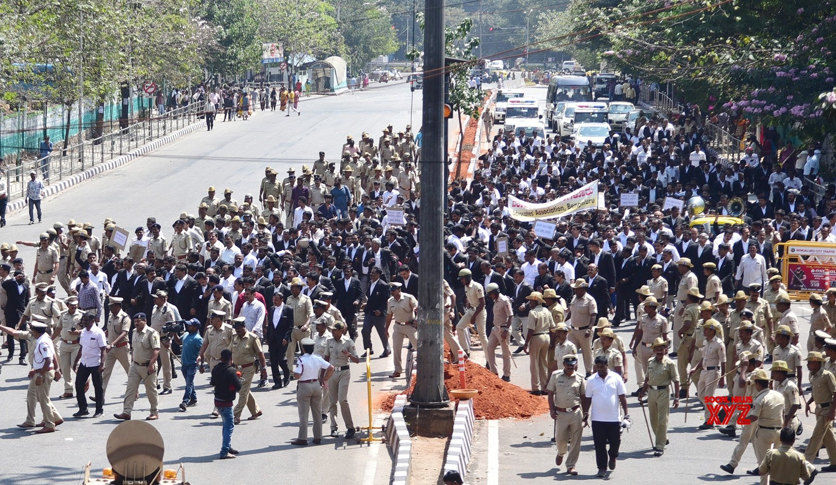 Bengaluru: Lawyers' march #Gallery