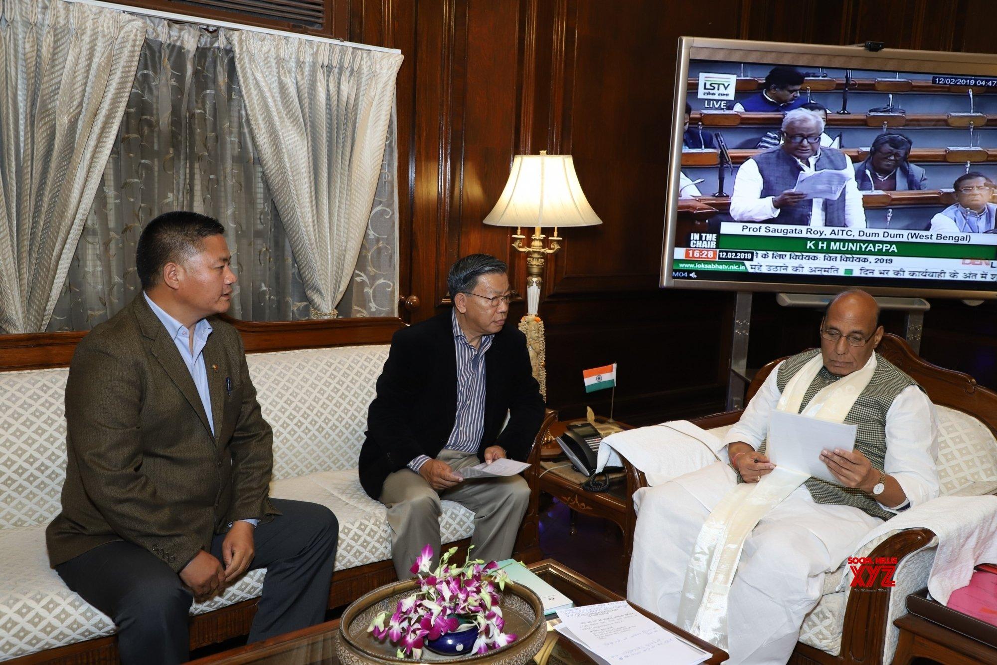 New Delhi: Sikkim MPs meets Rajnath Singh #Gallery