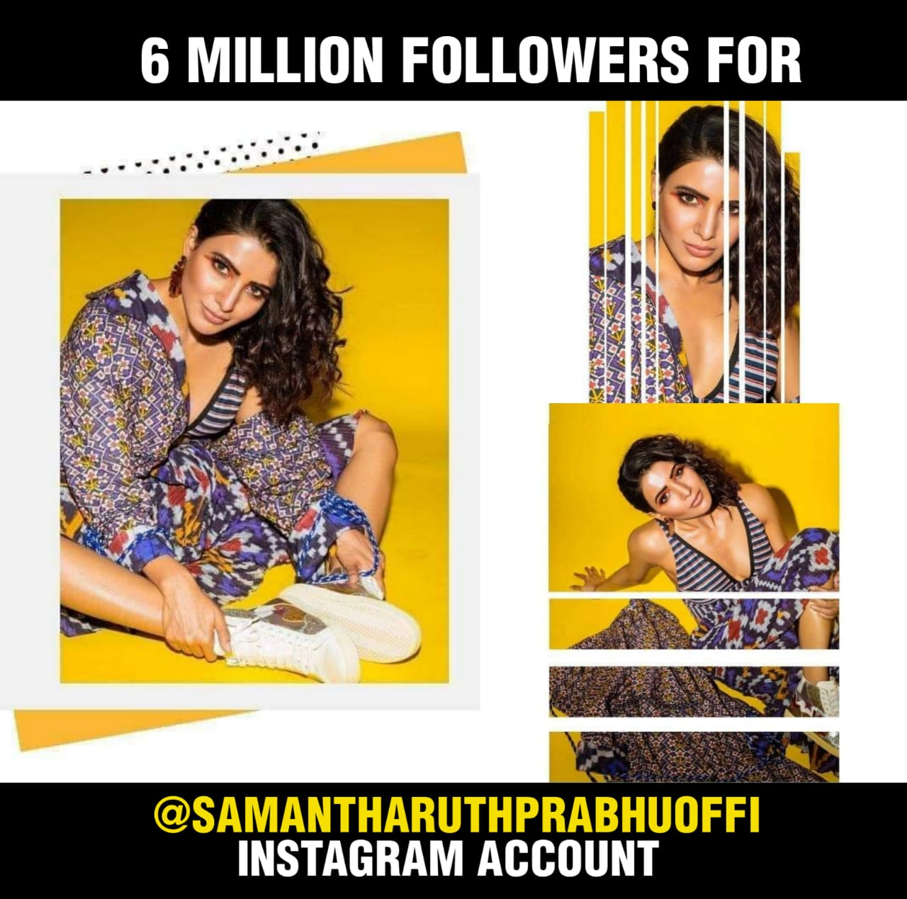 Six Million Followers For Samantha On Instagram