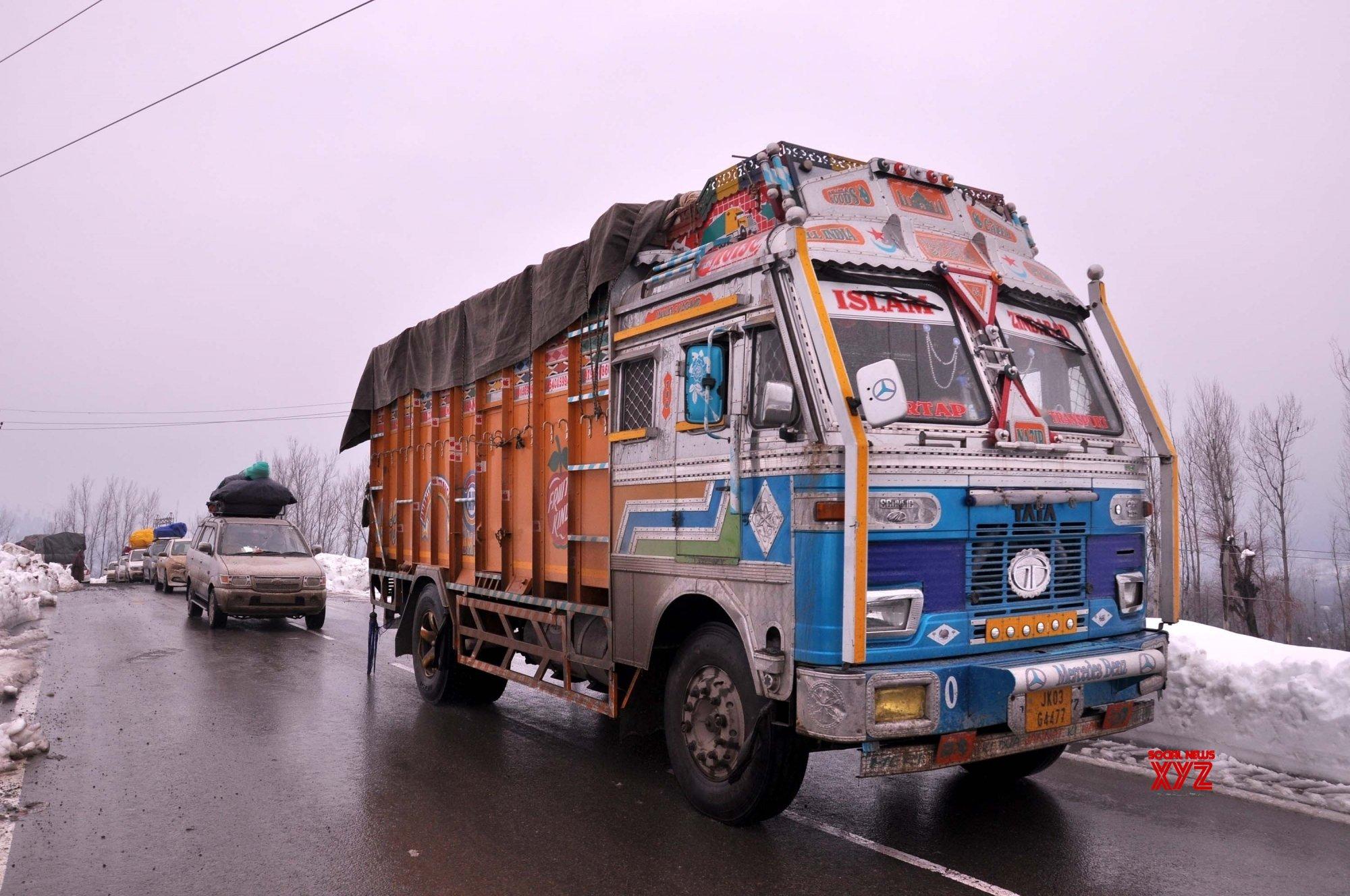 Qazigund: Jammu - Srinagar highway restored: Over 1,400 trucks head for valley #Gallery