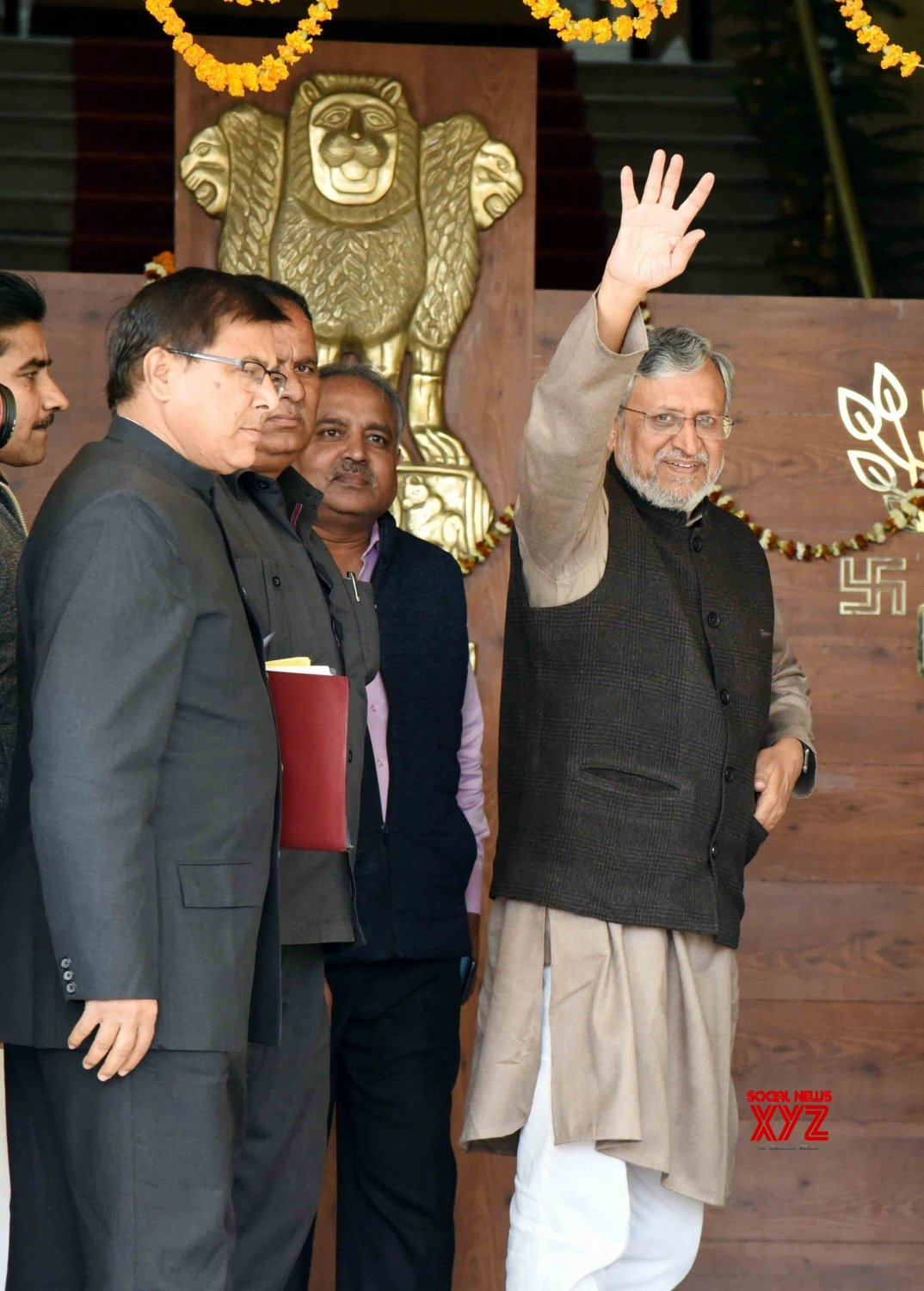 Patna: Sushil Kumar Modi arrives at Bihar Assembly #Gallery