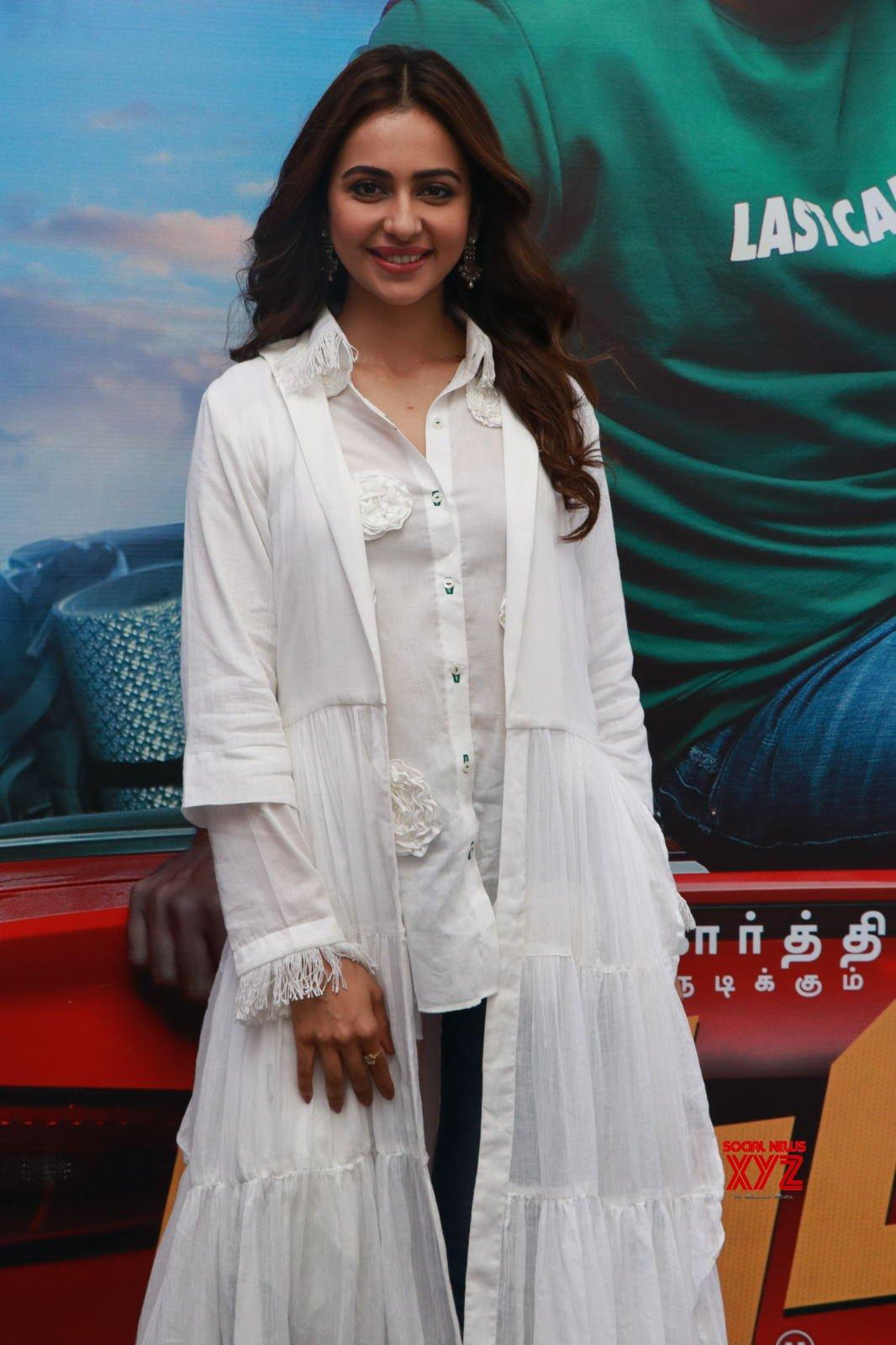 Actress Rakul Preet Singh Stills From Dev Tamil Movie Promotions