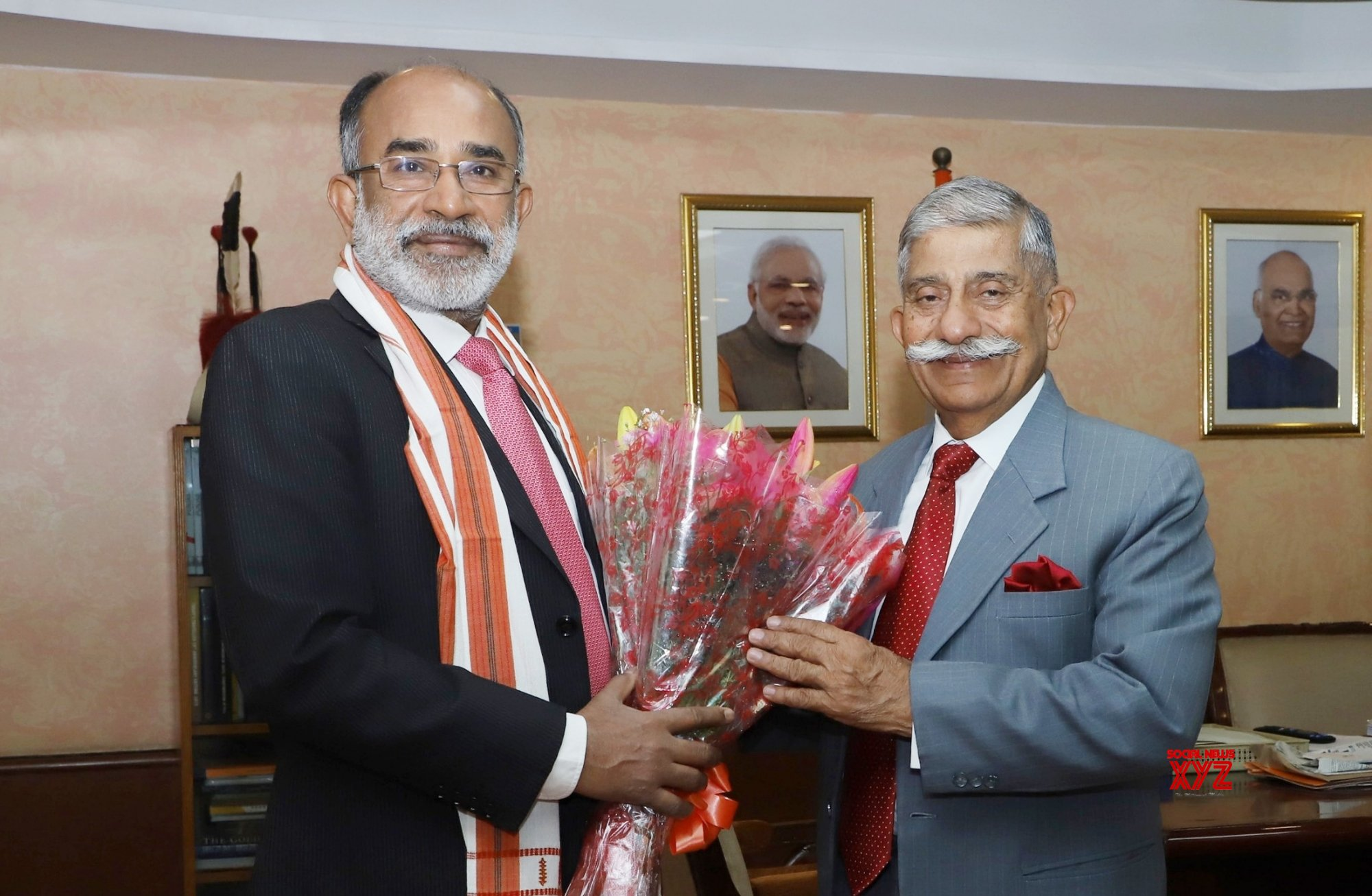 New Delhi: Arunachal Governor meets Alphons Kannanthanam #Gallery