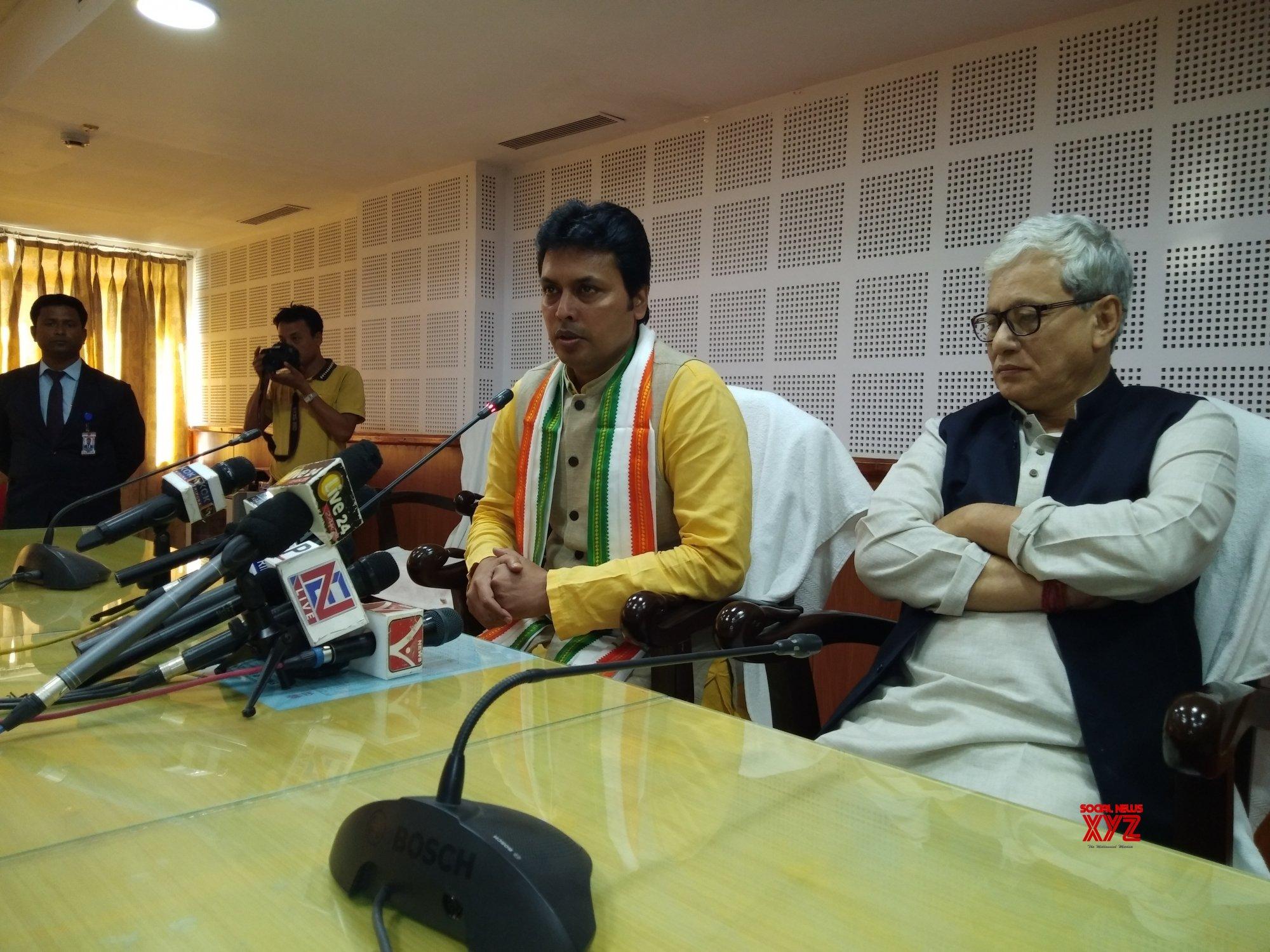 Agartala: Tripura CM's press conference #Gallery