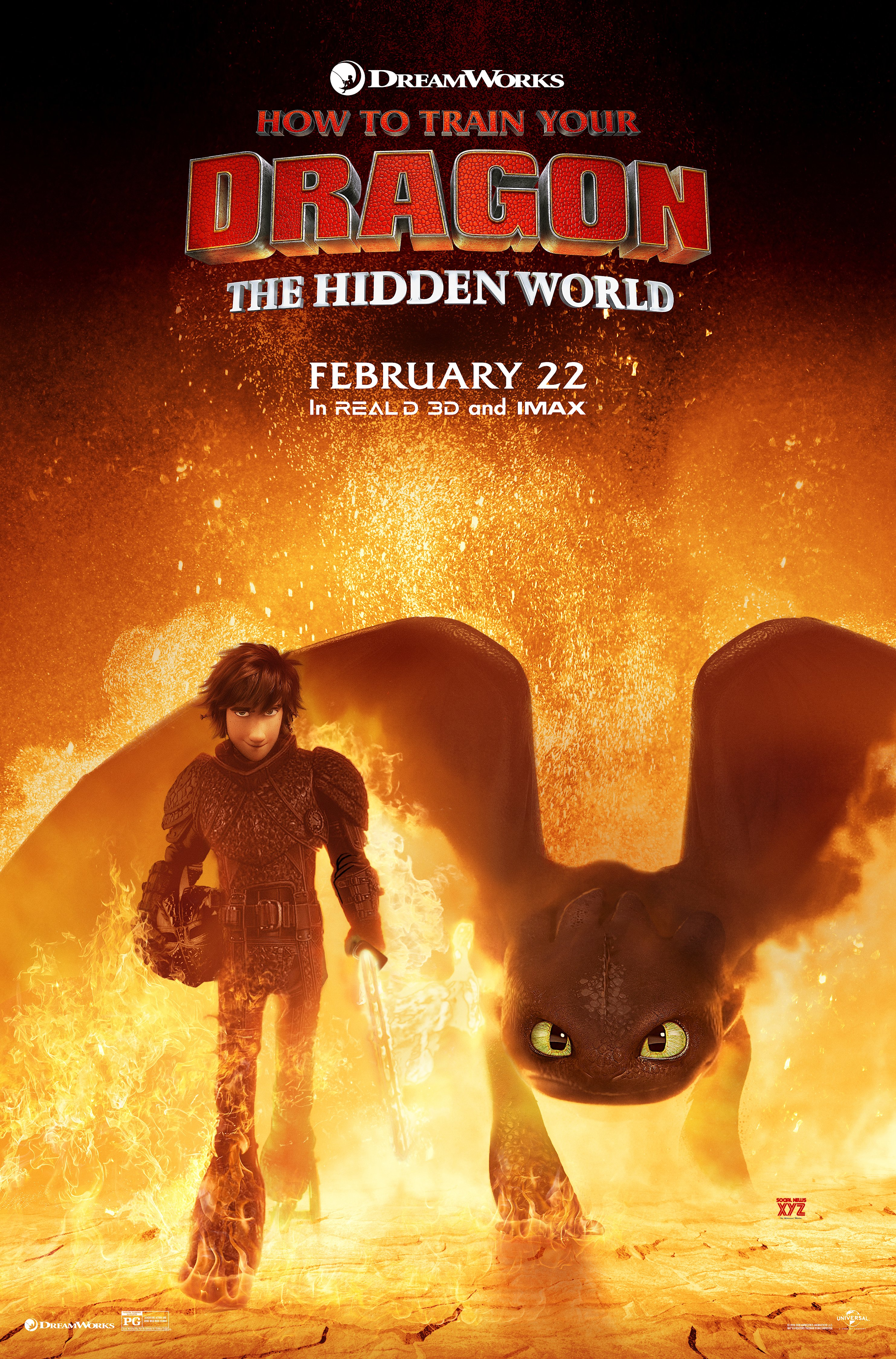 How To Train Your Dragon: The Hidden World Movie Updated HD Posters
