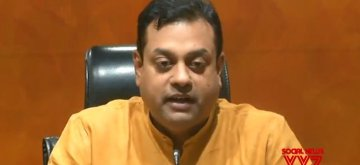 New Delhi: BJP Spokesperson Sambit Patra addresses a press conference, in New Delhi on June 20, 2018. (Photo: IANS/Twitter/@BJP4India)