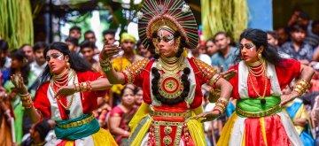"Bengaluru: Students perform during ""Varnotsava - 2019"" in Bengaluru on Feb 23, 2019. (Photo: IANS)"
