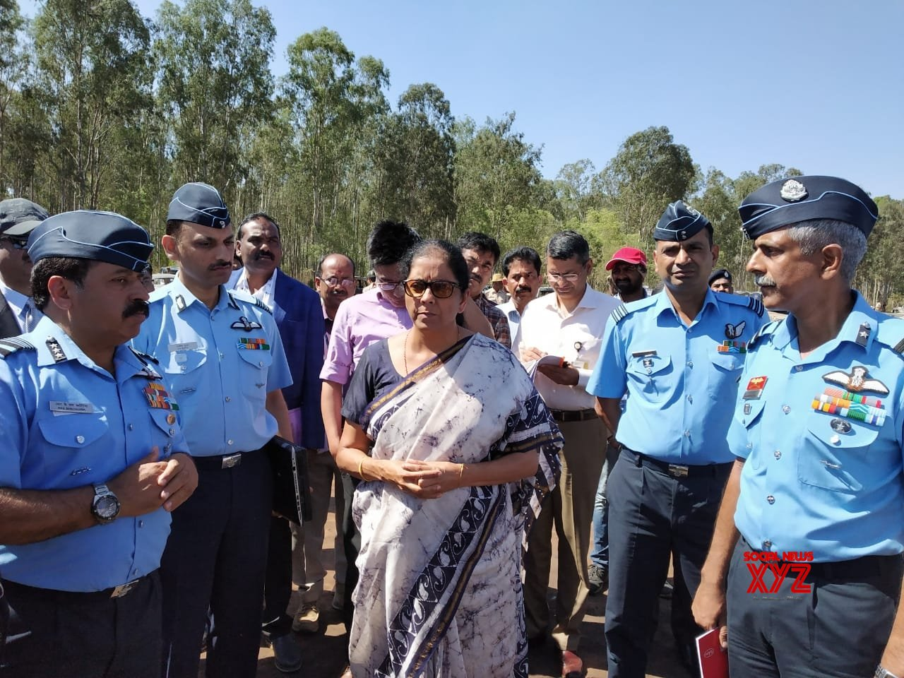 Nirmala Sitharaman inspects fire mishap site near Aero India veue