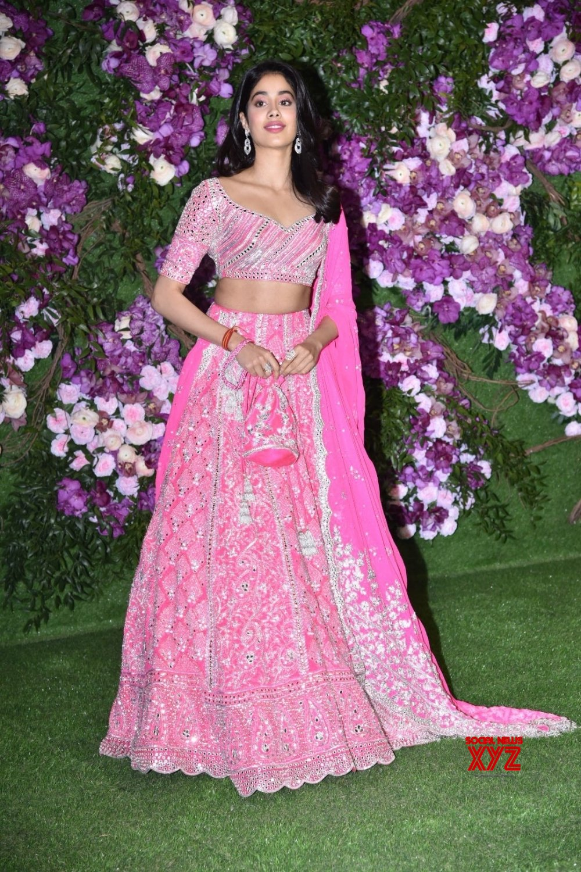 Mumbai: Jhanvi Kapoor at Akash, Shloka wedding festivities