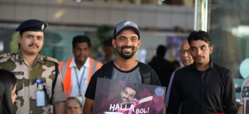 Jaipur: Cricketer Ajinkya Rahane arrives at Jaipur International Airport, on March 15, 2019. (Photo: Ravi Shankar Vyas/IANS)