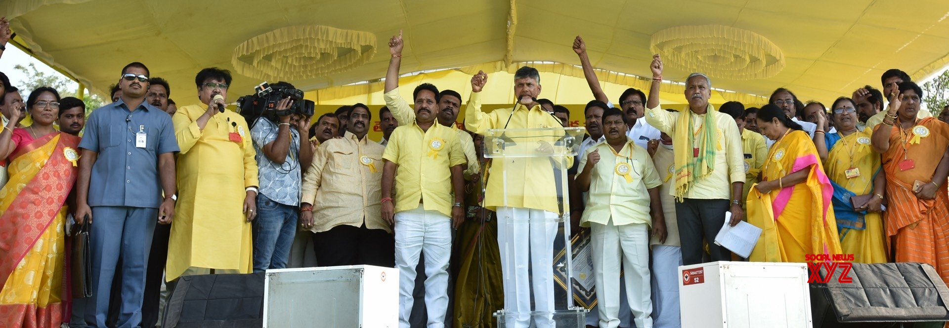 Srikakulam (Andhra Pradesh): Chandrababu Naidu launches TDP's election campaign (Batch - 2) #Gallery