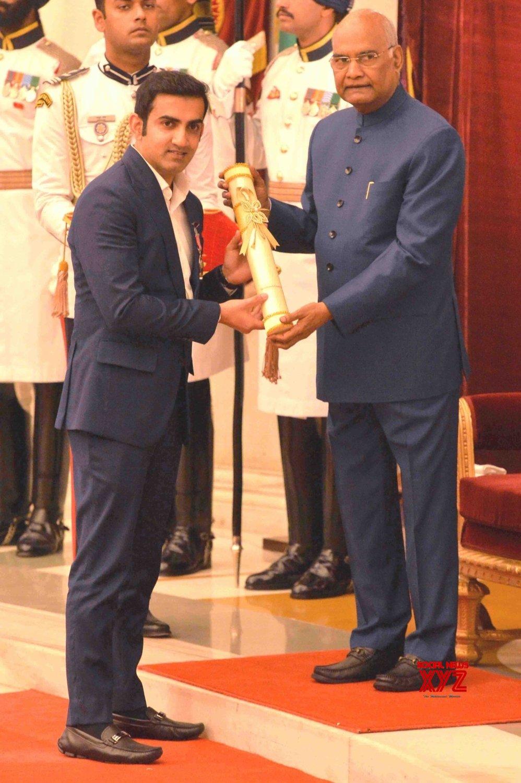 New Delhi: President Kovind presents Padma Awards - Gautam Gambhir (Batch 6) #Gallery